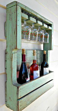 Rustic Wood Wine Rack Pallet Wine Rack by RobsRusticCreations                                                                                                                                                                                 More