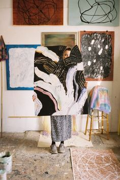 The work of Stockholm based photographer Erik Wåhlström is featured on a curated selection by the creative director of Old Faithful Shop, Walter Manning. The image depicts irregular brush strokes across works within a studio. Painting Inspiration, Art Inspo, Style Inspiration, Oeuvre D'art, Storyboard, Art Studios, Artist At Work, Graphic, Les Oeuvres