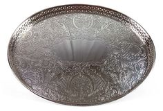 "Vintage English Barker-Ellis Silverplate Gallery Tray.  Maker's Mark on Underside.  11""Lx8.5""Wx0.5""H  $145  SOLD"