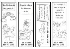 ¿Qué puedo hacer hoy?: Día del libro: marcapáginas