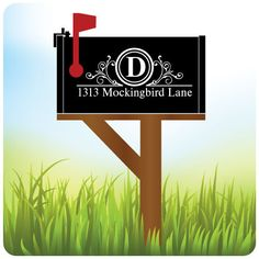 Vinyl Mailbox Lettering Decoration Decal by OffTheWallVinylDecor, $12.39