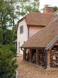 Little Farm Barns - Border Oak - oak framed houses, oak framed garages and structures. Cottage Design, House Design, Border Oak, Oak Framed Buildings, Oak Frame House, House Cladding, Cedar Homes, Timber Frame Homes, Farm Barn