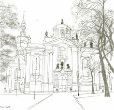 Click Old Town Hall In Prague Coloring page for printable