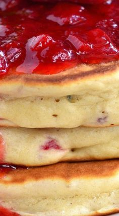 Strawberry Lavender Homemade Pancakes