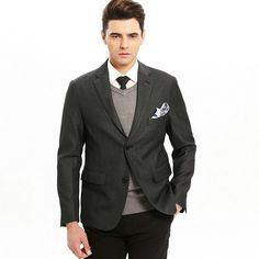 Grey sweater vest w/blazer