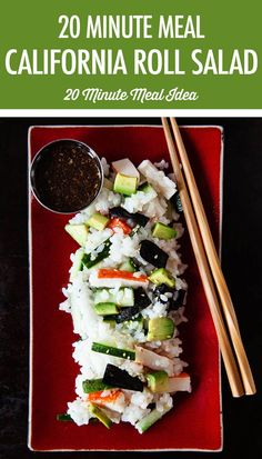 Enjoy the flavours of your favourite sushi roll at home with our quick and easy 20 minute Deconstructed California Roll Salad. Avocado Recipes, Fish Recipes, Seafood Recipes, Asian Recipes, California Roll Sushi, Sushi Salad, Lunch Smoothie, French Dishes, Canadian Food