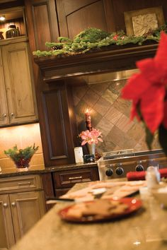 Decorate your Mantel Wood every year for the holidays with this Dura Supreme Wood Mantel Hood design.