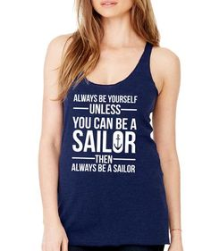 Take a look at this SignatureTshirts Navy 'Majestically Awkward' Tank Top - Women today! Geek Girls, Blue Tops, Awkward, Athletic Tank Tops, Shirt Designs, Fashion Outfits, My Style, How To Wear, Unicorn