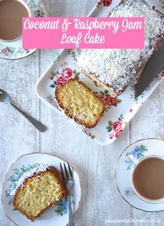 Coconut and Raspberry Jam Loaf Cake, an old school classic that is simple to bake and tastes fantastic.