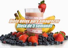 Conheça a dieta detox para emagrecer de 5 semanas e perca até 16kg. Confira aqui: http://perderpesoaqui.com/detox-de-5-semanas