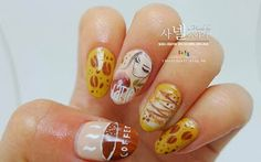 Coffee Nail Art saranail.blogspot.com