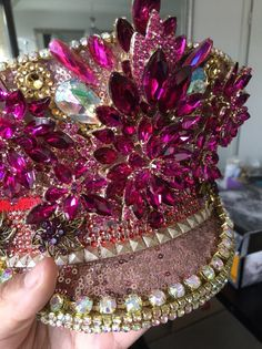 625789a438492 A gorgeous black and gold festival captain hat. Wear this work of ...