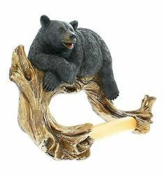Black Bear Lounging Toilet Paper Holder Decorative Cabin Decor by Marco NEW for Like the Black Bear Lounging Toilet Paper Holder Decorative Cabin Decor by Marco NEW? Cabin Homes, Log Homes, Black Bear Decor, Biscuit, Toilet Paper Roll Holder, Paper Holders, Wall Mounted Toilet, Wood Bathroom, Bathroom Ideas