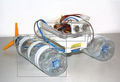 a Robot Boat Using Water Bottles Small Homemade Robot for Beginners