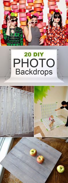 Photography tips | 20 easy DIY photo backdrops for better blog posts, product shots, or just for fun!