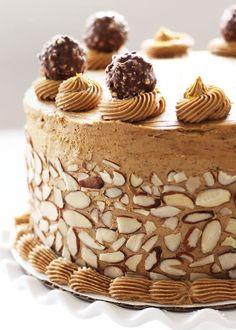 Velvety Mocha Espresso Cake, chocolate inside and coffee creme outside!