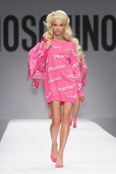 Favor Moschino Spring/Summer 2015 look... I'm very into the baggy sweaters and no pants look