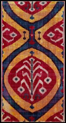 Ikat-dyed silk velvet panel. Bukhara, mid-19th century. Height x width: 25 x 13 1/4 in. (63.5 x 33.7 cm)
