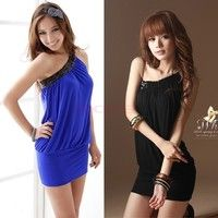 I think you'll like Women One off Shoulder Sleeveless Sexy Clubwear Cocktail Party Mini Dress EA77 3592 One Size Vestidos. Add it to your wishlist!  http://www.wish.com/c/5356233bae87fd0c957009d9
