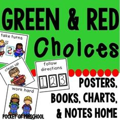 Red and Green Choices is a GAME CHANGER! It will change the way students act in your classroom! Making choices, how to interact with others, and act/behave is a skill (aka character education) we need to teach just like we need to teach letters and sounds.