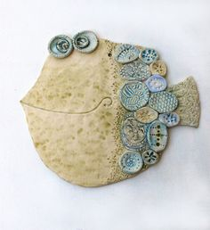 Handmade Ceramic Wall Decor  The Fish 2 by dushka on Etsy