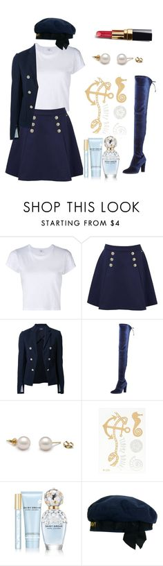 """Sailor ( Update)🙋"" by daria-ritivoiu ❤ liked on Polyvore featuring RE/DONE, Tommy Hilfiger, Theory, Chanel, Stuart Weitzman and Marc Jacobs"