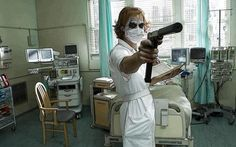 Heath Ledger in The Dark Knight Joker Dark Knight, The Dark Knight Trilogy, Joker Nurse Costume, Joker Heath, Heath Legder, Joker Joker, Watch The World Burn, Heath Ledger Joker, Joker Quotes