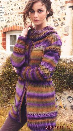 вязание спицами меланж пальто жакеты кардиганы - Пошук Google
