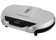 George Foreman GR144 Family Size Platinum Grill provides 133 sq. in. of grilling surface for up to 7 servings. Powerful 1440 watt grill features double nonstick coating, patented sloped design