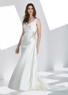 Chic sleeveless A-line floor-length bridal gowns,second wedding dress,second wedding dress,second wedding dress