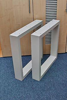 Leichte  Aluminium Tischkufen Kufe Tischgestell Kufengestell Tischbein 100x40mm