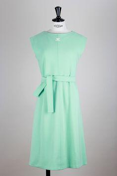 André COURRÈGES 1970s Vintage Dress Mint Green Size Germany 34 / UK 6 / USA 2