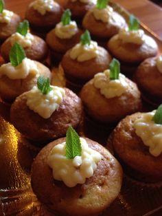 Muffin di limoncello con cuore di crema al limone