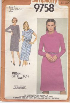 1980's Sewing Pattern  Simplicity 9758 Pullover by jennylouvintage