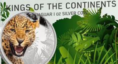 The fifth coin in the Kings of the Continents series from the new Zealand Mint has just been release Mint Coins, Continents, Jaguar, New Zealand, King, Silver, Animals, Animales, Animaux