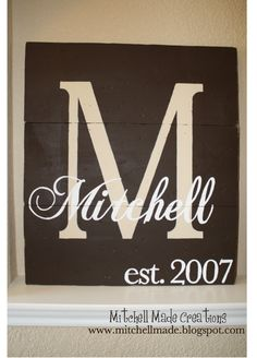 "Last name sign (27.5"" x 24"") #MitchellMade #decor $60 (plus tax/shipping)"