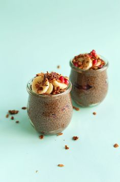 Overnight chocolate chia seed pudding