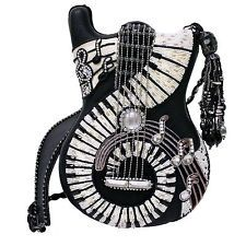 Mary Frances Handbag Jammin' Hand Beaded Jeweled Rhinestone Guitar Shoulder Bag