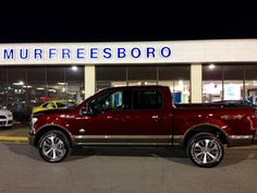 We had another lucky truck go to a good home yesterday! Here is Mr. Anthony Massa's BRAND NEW 2015 F-150 King Ranch! Mr. Massa traded in his 2012 F-150 Lariat with the help from our own Jayme Dillon last night! From all of us here at Ford of Murfreesboro, thank you for your business Mr. Massa, and thank you for staying in the Ford family! Enjoy your new truck!