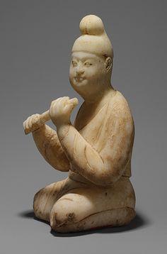 Músico sentado, Dinastía Tang 唐朝 (618-906), mármol. China
