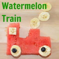 The Pleasantest Thing: Watermelon Train Snack