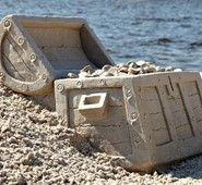 Beach Sand Sculptures in Destin Florida