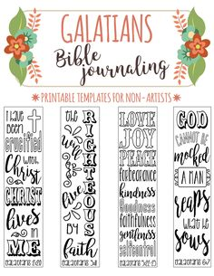 GALATIANS - printable Bible journaling templates for non-artists. Just PRINT & TRACE!