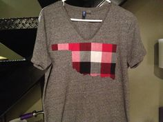 OU Plaid Game day Tshirt by GameDayTees on Etsy