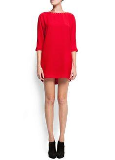 Studded straight-cut dress