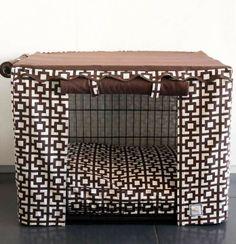Transform an ordinary metal crate into a den