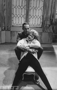 Henry Fonda and Lucille Ball on the set of Yours, Mine, and Ours, 1968... I LOVE this movie