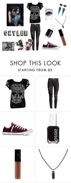 """""""Skyler"""" by supershelbs ❤ liked on Polyvore featuring Abbey Dawn, Converse, Essie, Vincent Longo and Laura Mercier"""