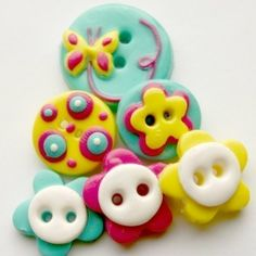 Butterfly Garden handmade buttons set of 6 by TessaAnn on Etsy, $13.50
