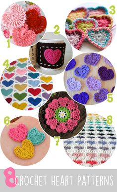 8 Crochet Heart Patterns For Valentine's Day! | Gleeful Things